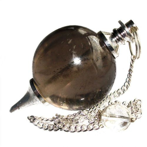Smoky Quartz Ball Dowsing Pendulum